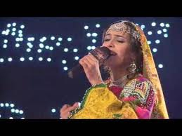 A contestant on Afghan Star