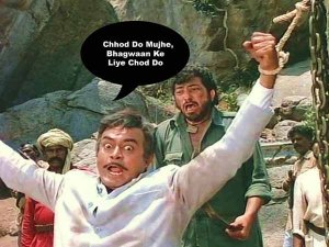 Gabbar Singh does damage to Thakur Sahib