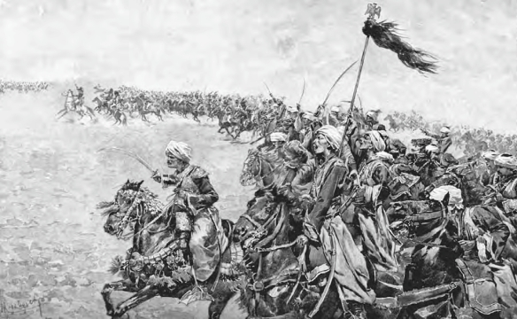 Hurs charging against the British