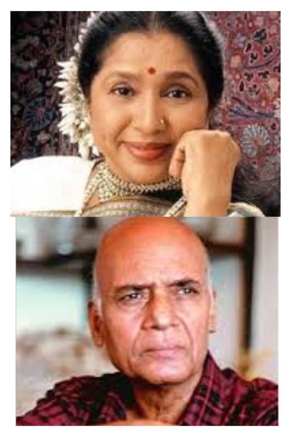 Asha Bhosle and Khayyam