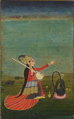 240px-A_woman_holding_a_Veena,_Mughal,_India._18_century